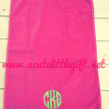 Monogrammed Golf Towel using Lilly Pulitzer Fabric