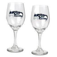 NFL Seattle Seahawks 2pc Wine Glass Set