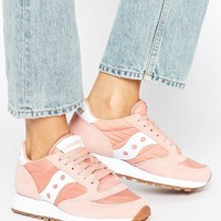 Saucony Exclusive Jazz Original Sneakers In Pink & White at asos.com