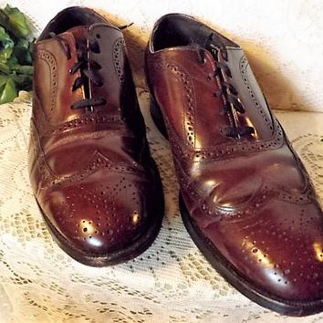 Mens Hanover Vintage Oxblood Brogue Wingtip Shoes  Size 11 EEE