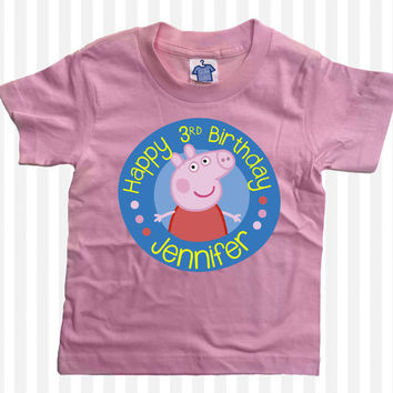 Peppa Pig Custom Birthday T-Shirt