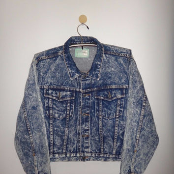 10995ceec Vintage 1990s Holiday Out Jacket Denim Acid Wash Women's Clothin