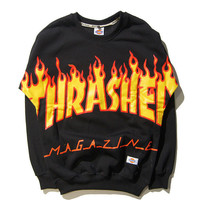 Womens Thrasher Pullover Skateboard Cotton Sweatshirts