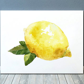 Lemon decor Kitchen print Fruit poster Food print ACW454