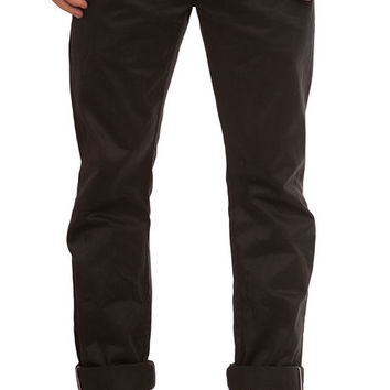 The Slim Selvedge Chino Pants in Black