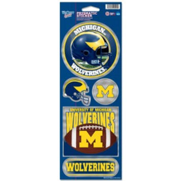 Michigan Wolverines Stickers Prismatic