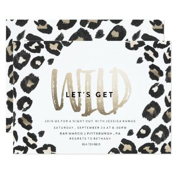 BACHELORETTE PARTY INVITATION // LEOPARD PRINT