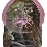 Duck Commander Women's Mesh Hat, Camo/Pink