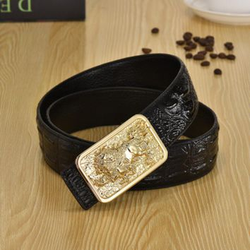 One-nice™ Woman Men Fashion Smooth Buckle Belt Leather Belt