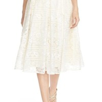 Paper Crown by Lauren Conrad 'Marietta' Lace Organza Full Skirt | Nordstrom