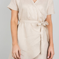 Cool For The Summer Linen Dress, Beige