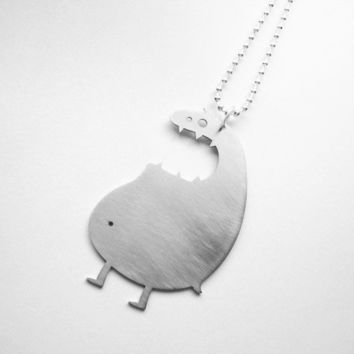 Mr UGLY MONSTER NECKLACE by iloveyoujewels on Etsy
