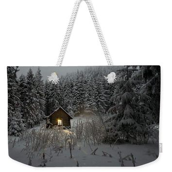 Cabin In Winter - Weekender Tote Bag