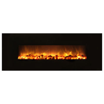 "Modern Flames 40"" Built-in/Wall Mounted Electric Fireplace - No Heat (SF40/BILV)"