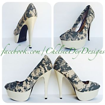 Shop Camo Heels on Wanelo 1dec9b64337e