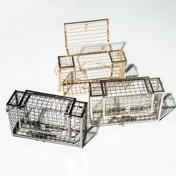 Hollow Metal Cage Party Clutch Bag