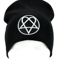 HIM Heartagram Beanie Occult Clothing Knit Cap
