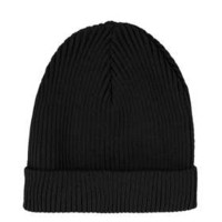 Black Turnup Beanie - Hats  - Bags & Accessories