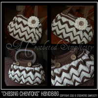 "Crochet Pattern: ""Chasing Chevrons"" Handbag / Purse, Permission to Sell Finished Items"