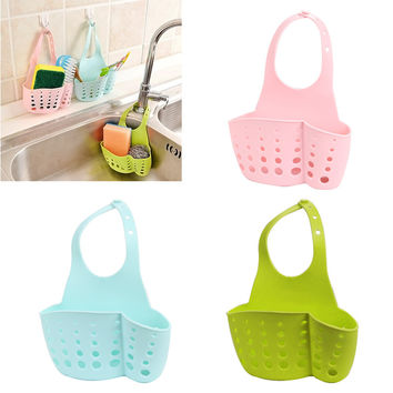 Portable Home Kitchen Bathroom Sink Sponge Hanging PVC Shelving Rack Drain Faucet Storage Pail Shelves Tools Holder Hoga