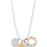 Silver, Gold & Rose Gold Charm Necklace | You Are My Sunshine Necklace | Stella & Dot
