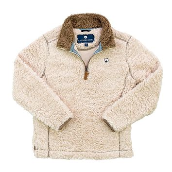YOUTH Sherpa Pullover with Pockets in Oyster Gray by The Southern Shirt Co. - FINAL SALE