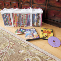 Evelots 2 DVD Blue-ray Storage Organization Case Vinyl Bags Holds 30 DVDs Each