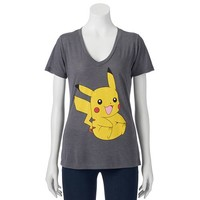 Juniors' Pokemon Pikachu T-Shirt