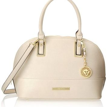 Anne Klein Shimmer Down Dome Satchel Bag