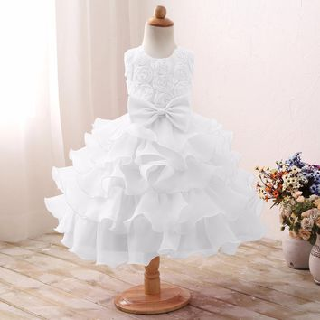 Baptism Baby Girl Wedding Party Dress for Birthday 6 7 8 Children Costume Kids Clothing Flower Girl Clothes Princess Dresses