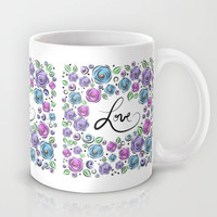 Love Blooms - Lavender Mug by Lisa Argyropoulos