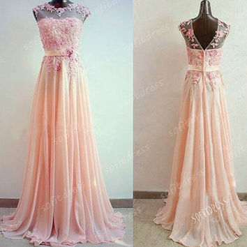 lace prom dress, blush pink prom dress, long prom dresses, affordable prom dress, evening dress prom, infinity dress prom, BE0630