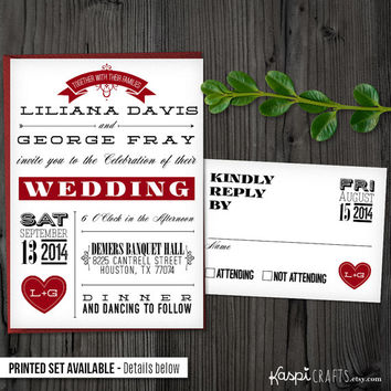 Old fashioned wedding, rustic wedding invitation, western wedding, printable invitation, printed invitation, customize with your colors