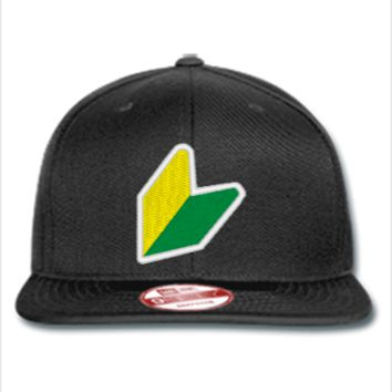 jdm logo embroidery hat  - New Era Flat Bill Snapback Cap