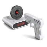 Gun O`Clock Shooting Alarm clock (White): Home & Kitchen