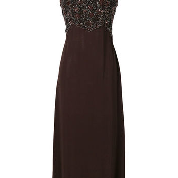William Vintage Beaded Slip Dress - Farfetch