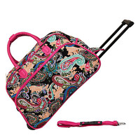 "JChronicles 21"" Paisley Print Rolling Duffel Bags"