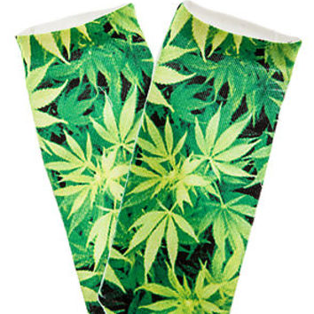 The Weed Ankle Sock in Green