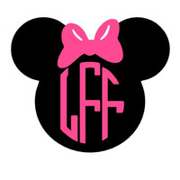 Minnie Mouse Monogram Decal Add Personality to Christmas Gifts, Great personal Gift, Gift Wrap Option, Personalize So Many Things
