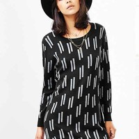 Mary Meyer MM Long-Sleeve Sweater Dress- Black Multi