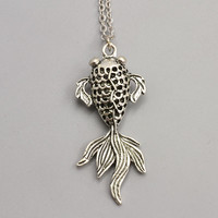 Coy Fish Pendant Necklace