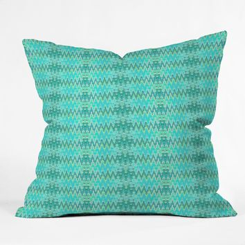 Ingrid Padilla Beauty Blue Throw Pillow