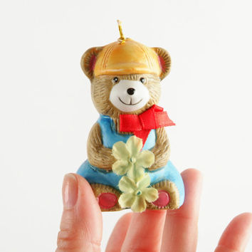 Vintage Teddy Bear Bell Porcelain by Giftco