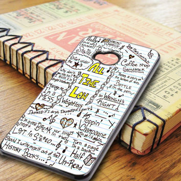 All Time Low Art Music Qoutes Lyric HTC One M7 Case