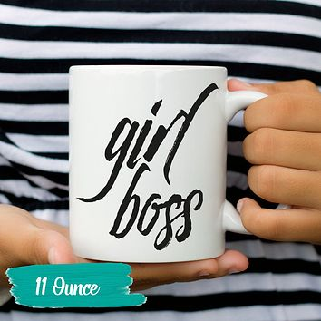 Funny Mug Humor Mug Girl Boss Coffee Cup Humorous Mug Gift Clever Tea Cup Sayings and Quotes