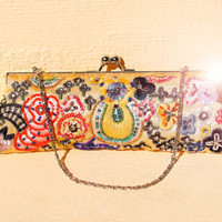 Yellow Beaded Beauty Clutch