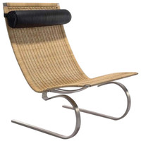 Rattan Weave Easy Chair - Tropical - Outdoor Lounge Chairs - by The Khazana Home Austin Furniture Store