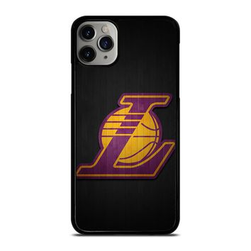 LA LAKERS WOODEN LOGO iPhone Case Cover