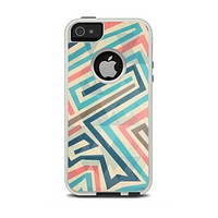 The Retro Colored Maze Pattern Apple iPhone 5-5s Otterbox Commuter Case Skin Set