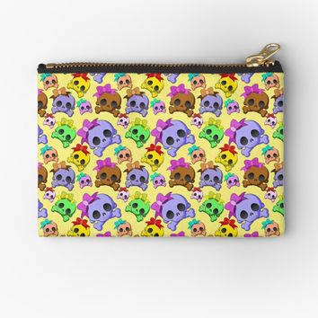 'Cute Girly Kiddie Skulls ' Studio Pouch by Gravityx9